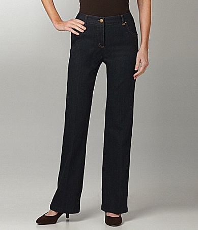 TanJay Petites Modern-Fit 5-Pocket Bootcut Pants