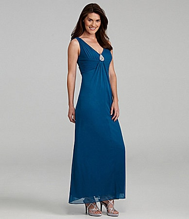 Alex Evenings Sleeveless Mesh Gown