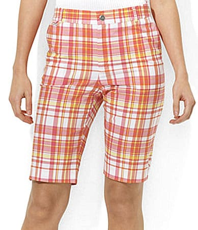 Lauren Active Garabaldi Plaid Bermuda Shorts