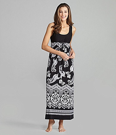 Half Moon Eclipse by Modern Movement Boho Print Lounge Maxi Dress