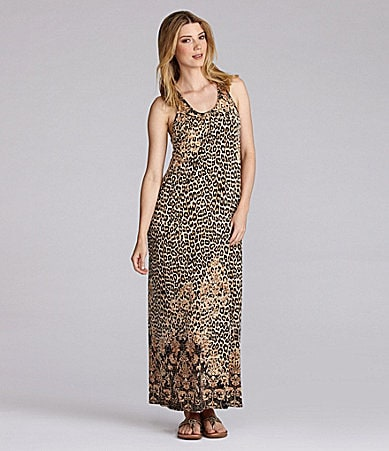 Half Moon Eclispe by Modern Movement Animal Boho Lounge Maxi Dress
