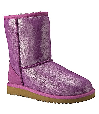 UGG Australia Youth Girls Classic Short Glitter Boots