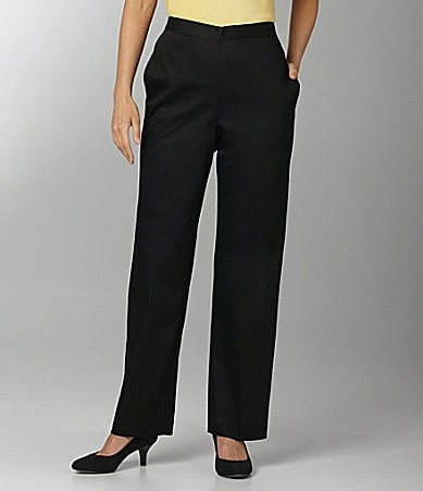 Samantha Grey Flat Front Pants