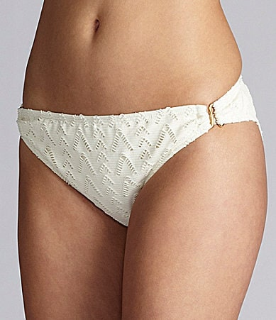 Gianni Bini Swim Crochet Ring-Side Pant