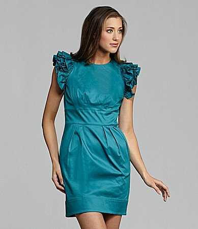 Jessica Simpson Ruffle-Sleeve Dress