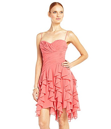 Max and Cleo Chiffon Ruffle Dress