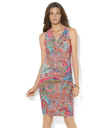 Lauren Ralph Lauren Paisley Faux-Wrap Dress