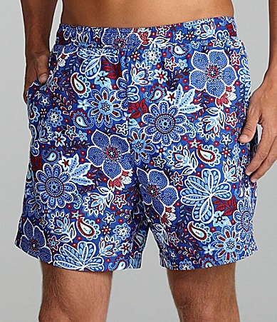 Cremieux Floral Print Swim Trunks