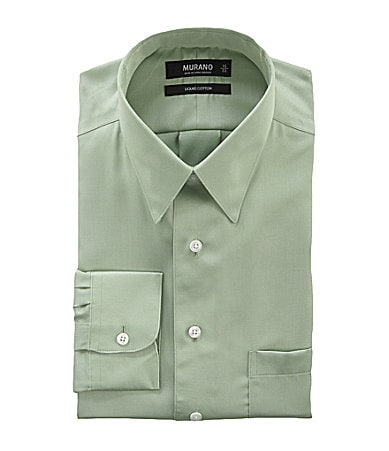 Murano Solid Point-Collar Dress Shirt
