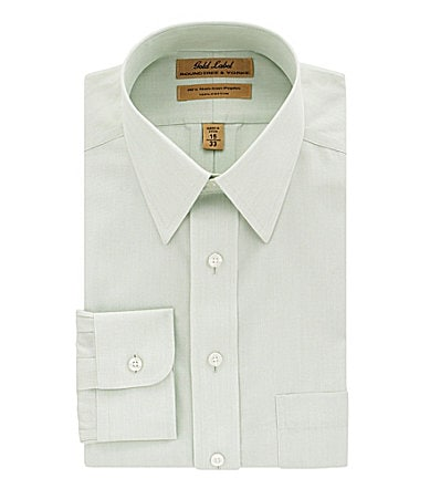 Roundtree & Yorke Gold Label Fineline Point-Collar Dress Shirt