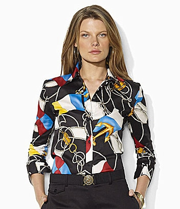 Lauren Ralph Lauren Nautical Flag Shirt