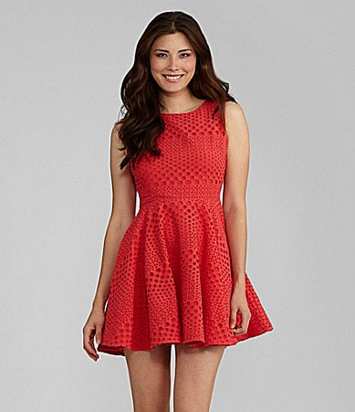 Chelsea & Violet Allover Eyelet Dress