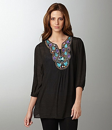 AZI Jeans Applique Tunic