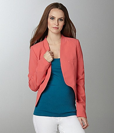Aryn K. Silk Open-Front Jacket