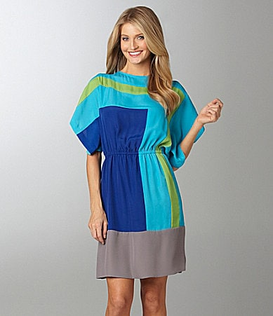 Suzi Chin Colorblock Dress