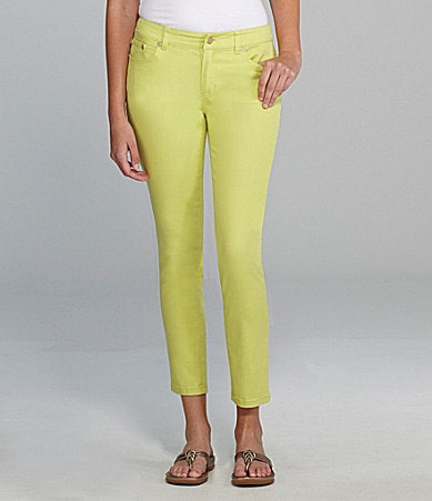 AK Anne Klein Colored Denim Capri Pants