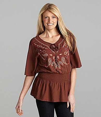 Multiples Batwing-Sleeve Top