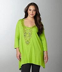 Women  Plus  Tops & Tees  Tunics  Dillards
