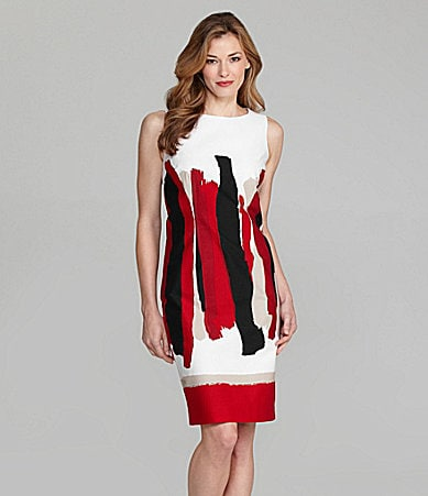 Sharon Young Sleeveless Hand-Painted Dress