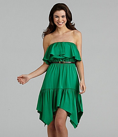 XOXO Strapless Belted Dress