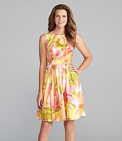 Jones New York Signature Floral-Print Dress