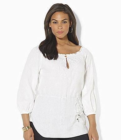 Lauren by Ralph Lauren Woman Krisa Linen Tunic