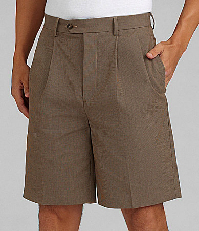 Daniel Cremieux Signature Pleated Micro-Check Shorts