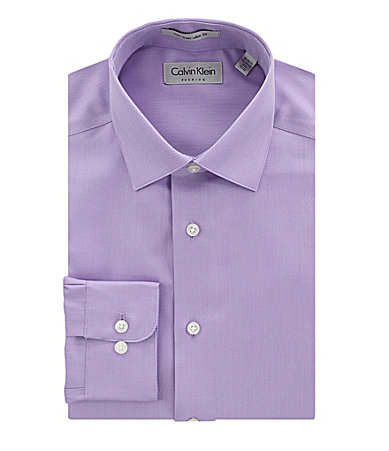 Calvin Klein Slim-Fit Solid Spread-Collar Dress Shirt