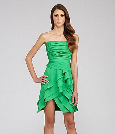 MM Couture by Miss Me Strapless Tiered Dress