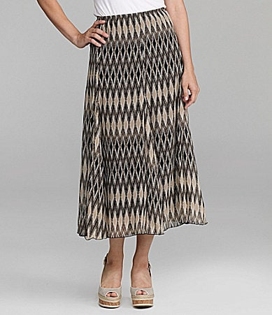 Ruby Rd. Diamond-Print Maxi Skirt