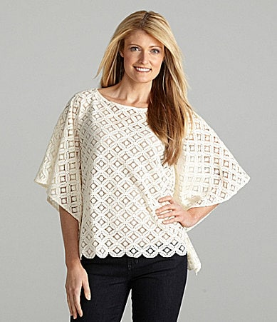 Ruby Rd. Geometric Lace Top
