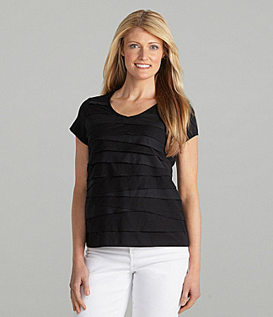 Ruby Rd. Tiered Knit Top