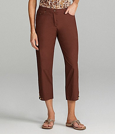 Ruby Rd. Embellished-Hem Capri Pants