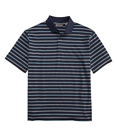Daniel Cremieux Signature Striped Jacquard Polo