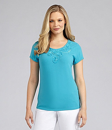 Ruby Rd. Woman Embellished Knit Top