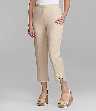 Ruby Rd. Woman Embellished Capri Pants