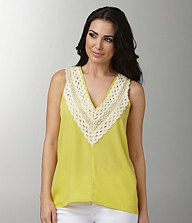 Collective Concepts Crochet Trim Top