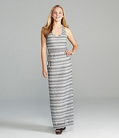 Rampage Zigzag Striped Maxi Dress