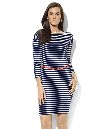 Lauren Ralph Lauren Petites Long-Sleeved Belted Dress