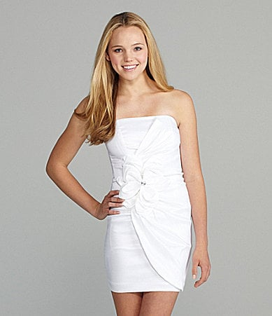 Xscape Strapless Taffeta Dress