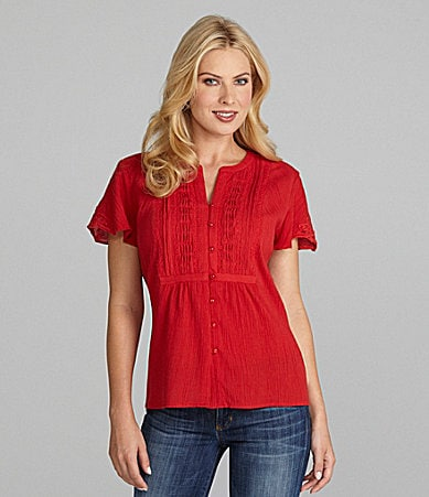 Jones New York Signature Splitneck Blouse