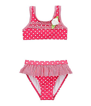 Penelope Mack Infant Dotted/Striped 2-Piece Swimsuit