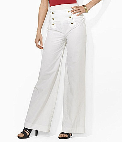 Lauren  Ralph Lauren Petites Nicklaus Cotton Twill Sailor Pants