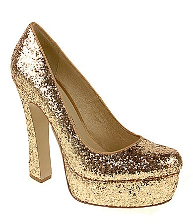 Chinese Laundry Move Over Glitter Platform Pumps