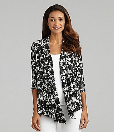 Peter Nygard Woman Printed Cascade Cardigan