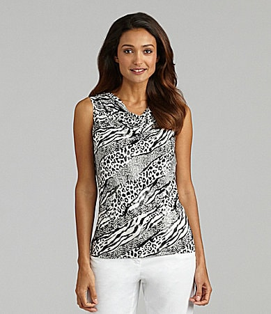 Peter Nygard Woman Amazon Animal Printed Knit Top