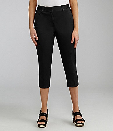 Peter Nygard Woman Stretch Sateen Capri Pants