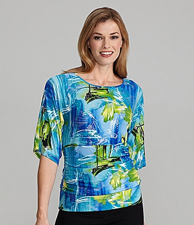 Peter Nygard Water Wave Print Knit Top