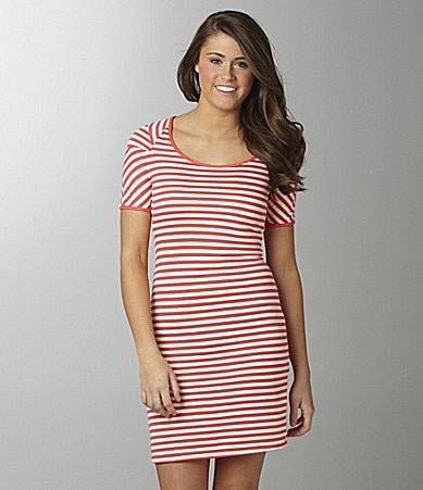 Soprano Striped Knit Dress