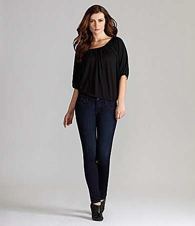 Gianni Bini Norma Knit Top & My BFF Denim Jeggings